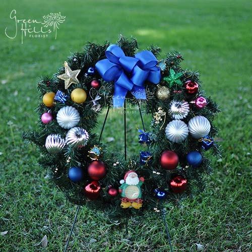 Christmas Holiday Wreath Green Hills Florist