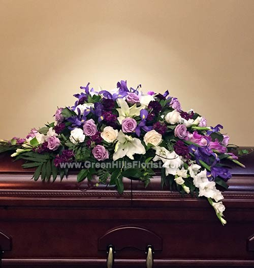 Beautiful Memories Casket Spray by Green Hills Florist