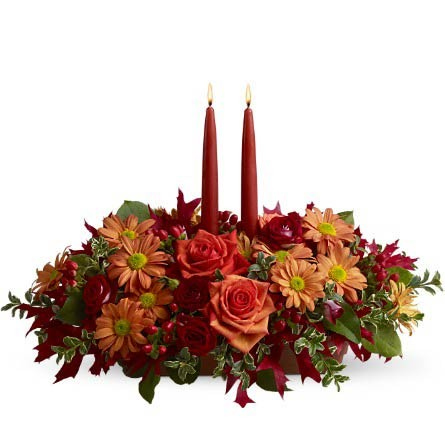 Autumn Lights Centerpiece by Green Hills Florist
