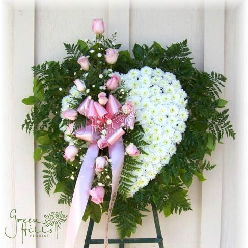 Eternal Love Heart by Rancho Palos Verdes mortuary florist