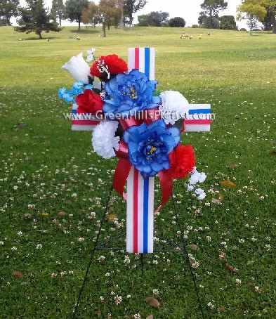 Patriotic Memorial Day Cross