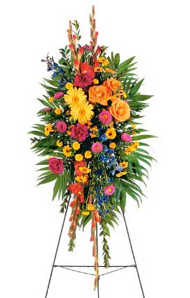 Celebration of Life Standing Spray by Green Hills Florist