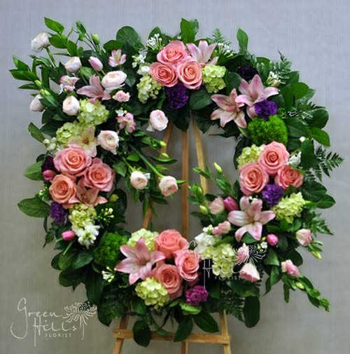 Eternity Wreath by Green Hills Flower Shop