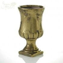 Gold crackeled urn vase