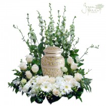Serenity Urn Wreath Cremation tribute flower Green Hills Mortuary