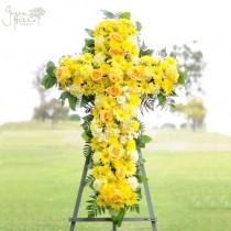 Sunny Memories Cross by Green Hills Florist