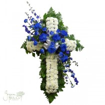 For the Love of Blue by McNerney's mortuary florist San Pedro