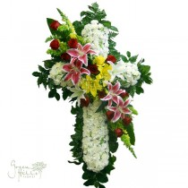 Timeless Tribute Cross by Green Hills Florist Mortuary Rancho Palos Verdes