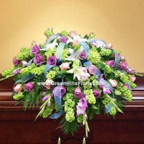 Grand Tribute Casket Spray by Green Hills Florist