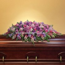 Lavender Grace Casket Spray by Green Hills Florist