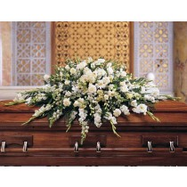 White Casket Spray - Deluxe by Green Hills Florist