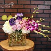 Lavender Purple White bouquet, Florist delivery to Rancho Palos Verdes