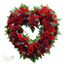 Tribute Heart by Green Hills mortuary florist Rancho Palos Verdes