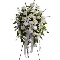 funeral tribute sympathy flower spray to Green Hills Mortuary Memorial Chapel