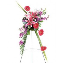 Stargazer Lily and Gerbera Spray by Green Hills Florist
