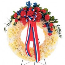 Patriotic Spirit Wreath by Green Hills Florist