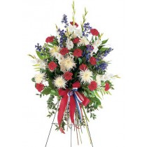 Patriotic Spirit Spray by Green Hills Florist