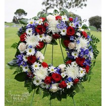 Star Spangled Wreath by Green Hills Flower Shop
