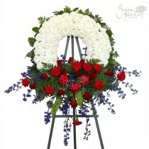 Rest in Peace Wreath by Green Hills Florist Mortuary Rancho Palos Verdes