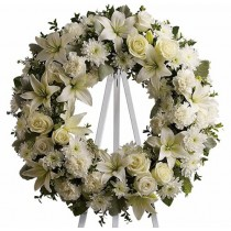 Peace Be With You Wreath by Green Hills Florist