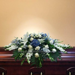 Ocean Breeze Casket Spray by Green Hills Florist