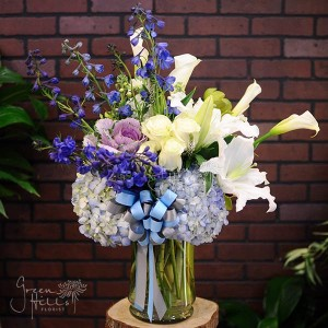 Blooming Blues in Rolling Hills Estates, CA | Green Hills Florist