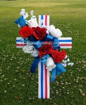 Patriotic Memorial Day Cross