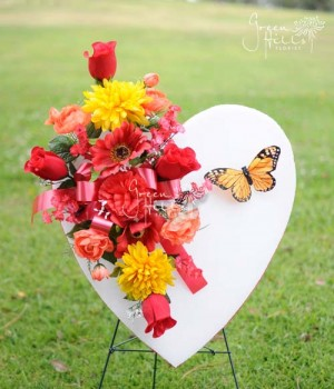 Father's Day Heart by Green Hills Flower Shop