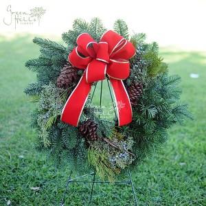 Christmas Holiday Fresh Wreath Green Hills Rancho Palos Verdes Flowers