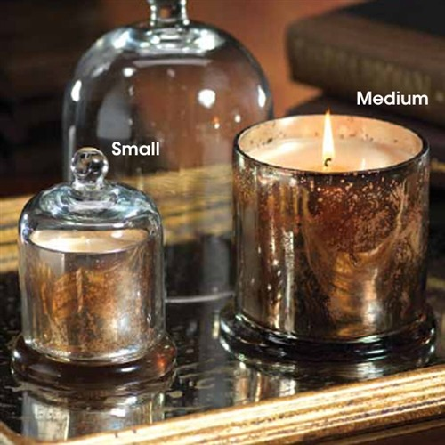 Zodax Glass Dome Candle Italian Citron