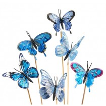 Butterfly fabric on a stick by Green Hills Florist in Rancho Palos Verdes
