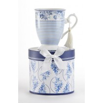 English Blue Mug in Gift Box