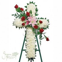 Classic Tribute Cross by Green Hills mortuary Florist Rancho Palos Verdes