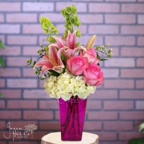 Rosy Hues by local San Pedro florist