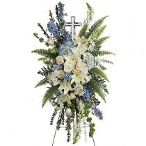 Devotion Cross Spray by Green Hills Florist