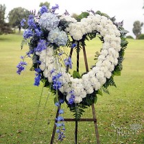 Blue Horizon Heart by Green Hills Mortuary Florist Rancho Palos Verdes