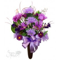Silk Mausoleum Bouquet Lavender by Green Hills Flower Shop