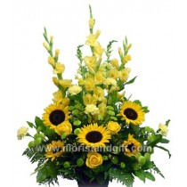 Sunshine Tribute Flower Arrangement
