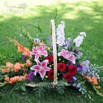 Flowing Garden sympathy funearl basket rancho palos verdes florist