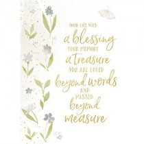 A blessing and Treasure sympathy card