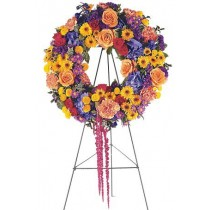 Celebration of Life Wreath by Green Hills Florist
