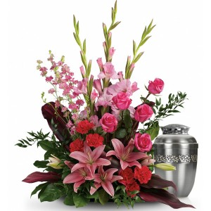 Funeral sympathy tribute flowers Green Hills Mortuary florist